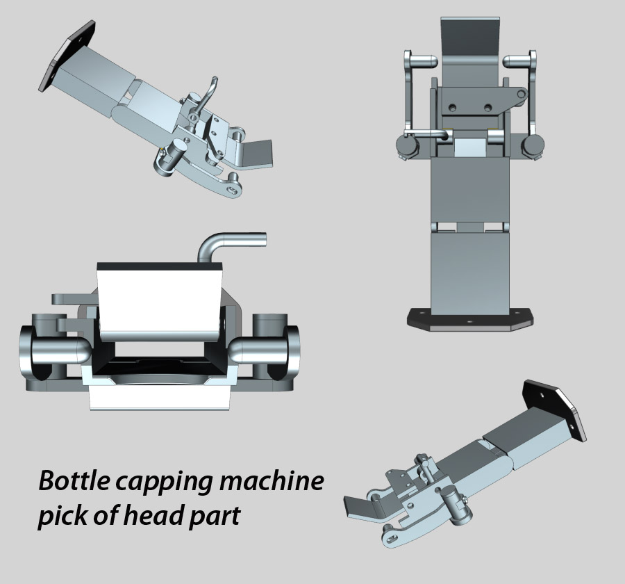 Bottle Capping Machine Pick of Head Parts, Capping Machine parts
