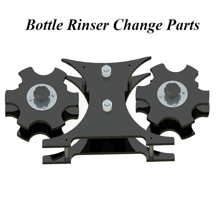 Bottle Rinser Change Parts, Rinser Star wheels, Bottle Rinser Feed Screws, Rinser Change Parts, Rinser Star Wheels