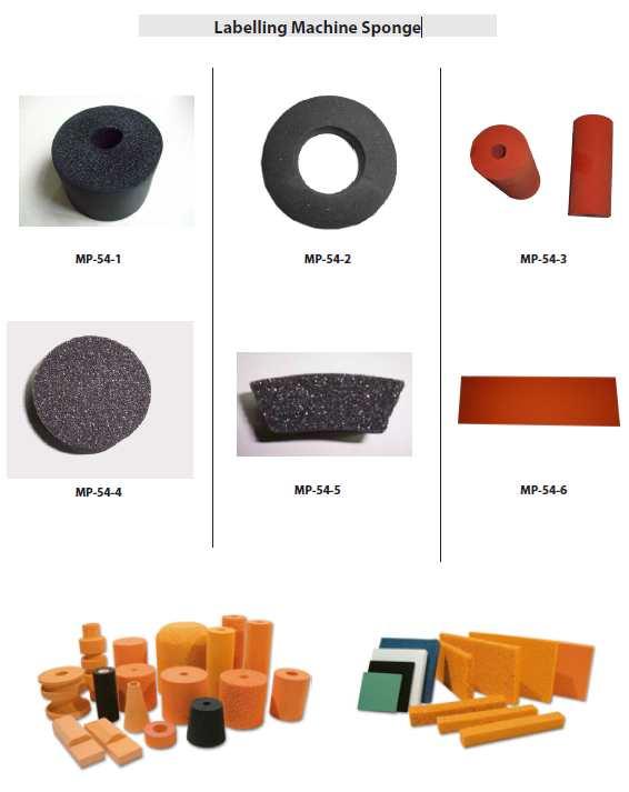 Labeller Sponge, Labelling foam rubber, Labeller sponge rollers, Labelling machine sponge rubber, labelling sponge foam