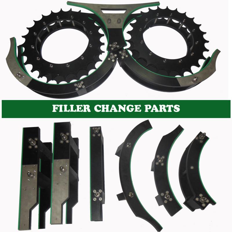 Filling Machine Change Parts , Filler Star Wheels, Filler Feed Screws, Filling Bottle Handling Parts, Filler OEM Parts