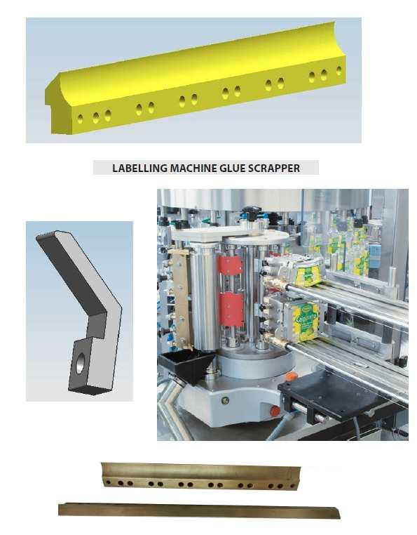 Cold Glue Labelling Machine Glue Scraper parts, Bottle Labeler Glue Scraper parts
