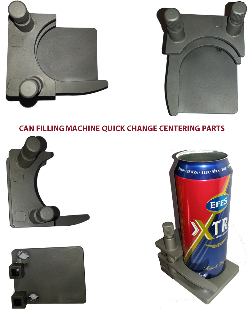 Can Filling Machine Change Parts, Can filling parts, Quick Change Centering Parts, Filler Can Filler Change parts, Bottle Can filler Spare Parts