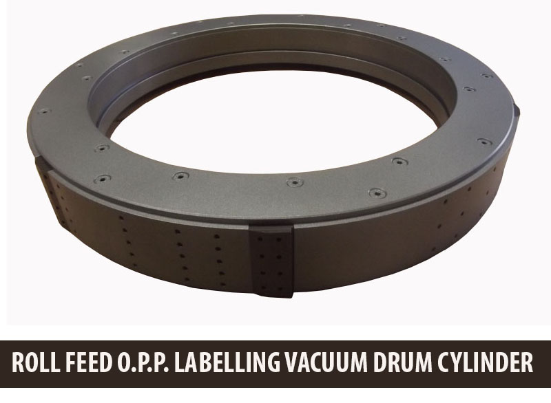 Labeller Vacuum Drum Cylinder, Labeler Roll-Fed Labeler, OPP Labelling Machine Change Parts, OEM parts, Labelling Vacuum Drum