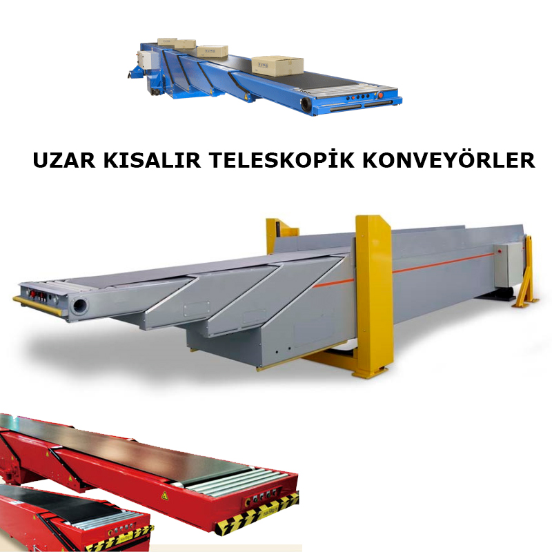 Truck load telescopic belt conveyors, Telescopic Belt Conveyors