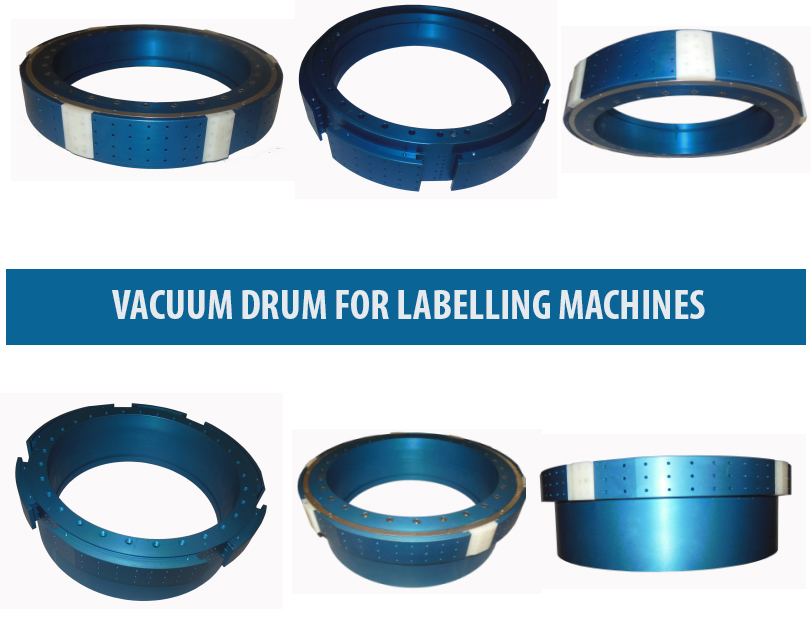 Vacuum Drum , Roll-Fed Labeler Vacuum Drum, O.P.P. Labelling machine vacuum drum